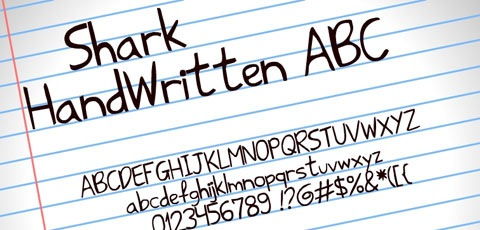 sharkhandwritten 50 High Quality Fonts Every Designer Must Download