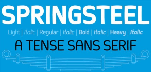 springsteel 50 High Quality Fonts Every Designer Must Download