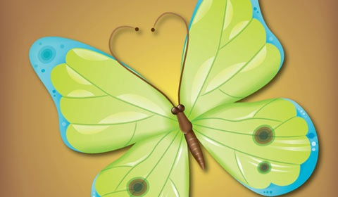 butterfly 50 Best Illustrator Design Tutorials From 2010