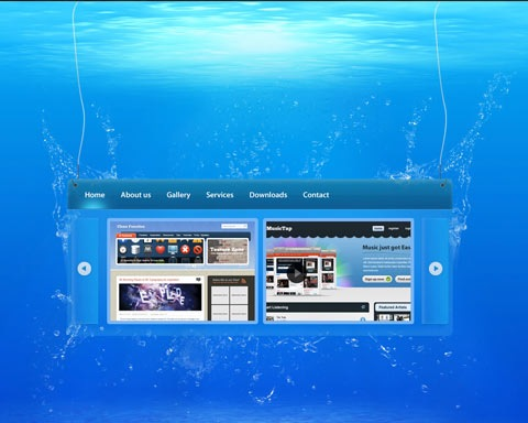underwatersite 20 Best Design Tutorials From 2010 To Create an Mind blowing Website