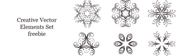 creativevectorlementsset A Spectacular Creative Vector Elements Set Freebie