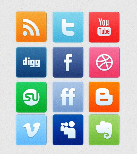 cleaniconsetpreview A Clean Noise Social Media Icon Set