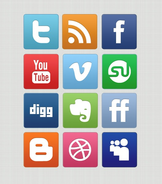 previewcleaniconset Slick But Clean Free Social Media Icon Set