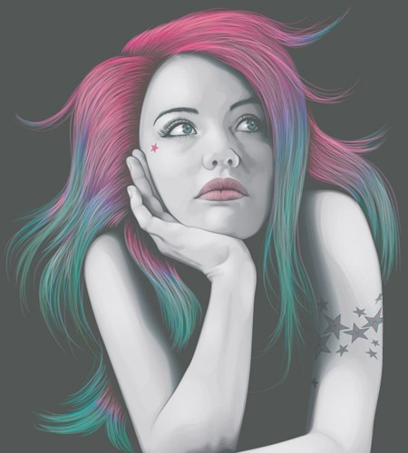 portaitusingfourcolours The Best Illustrator tutorials for Creating Detailed Portrait Illustrations