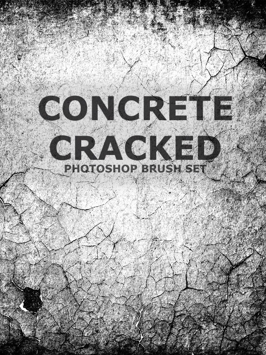 concreatecrackedtexturepreview Concrete Cracked Free Photoshop Brush Set