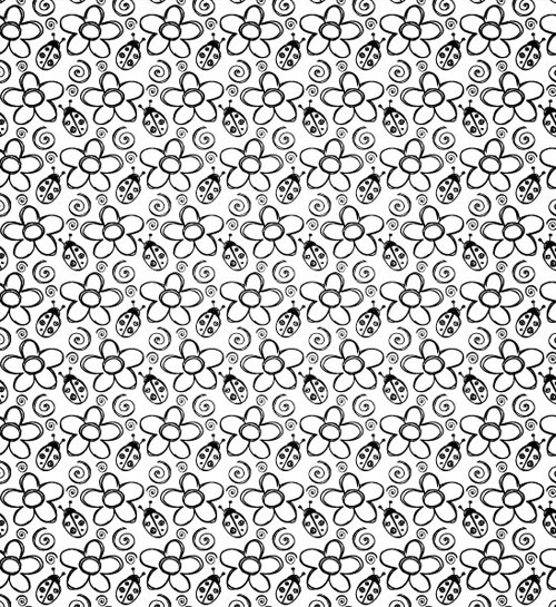 summerbugs 10 Fresh High Quality Seamless Photoshop And Illustrator Patterns