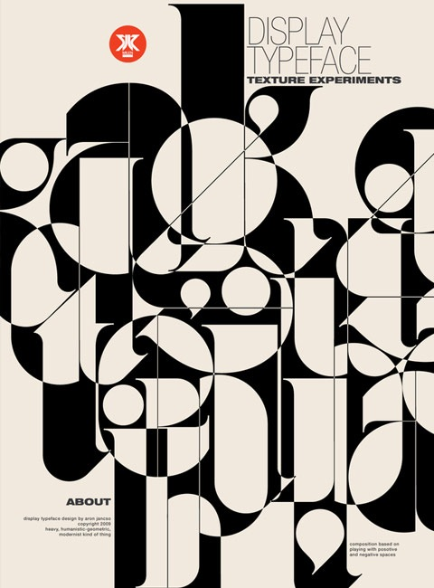 displaytypeface 20 Truly Beautiful Typography Poster Designs