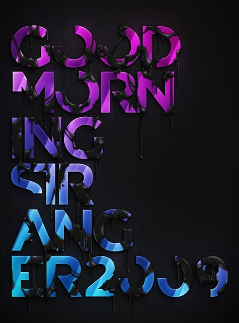 goodmorning 20 Truly Beautiful Typography Poster Designs