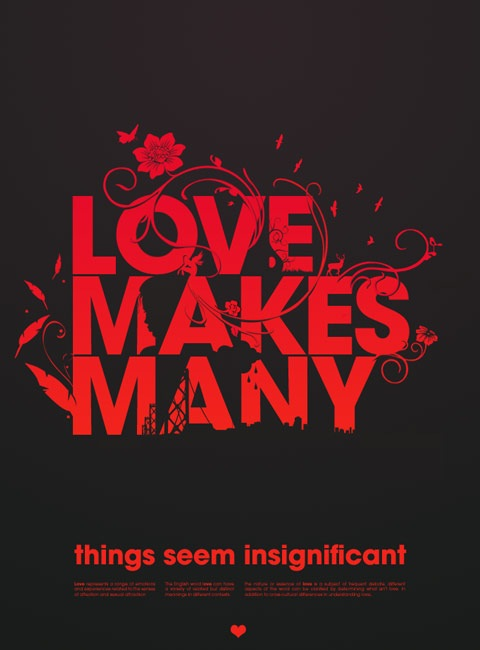 lovemakesmany 20 Truly Beautiful Typography Poster Designs