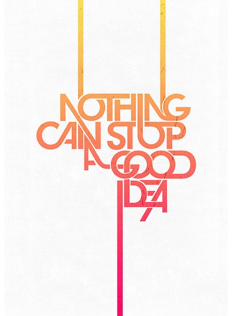 nothingcanstop 20 Truly Beautiful Typography Poster Designs