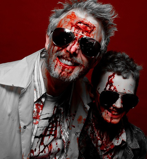 blackandwhitered 20 Of The Most Terrifying Halloween Zombie Portraits