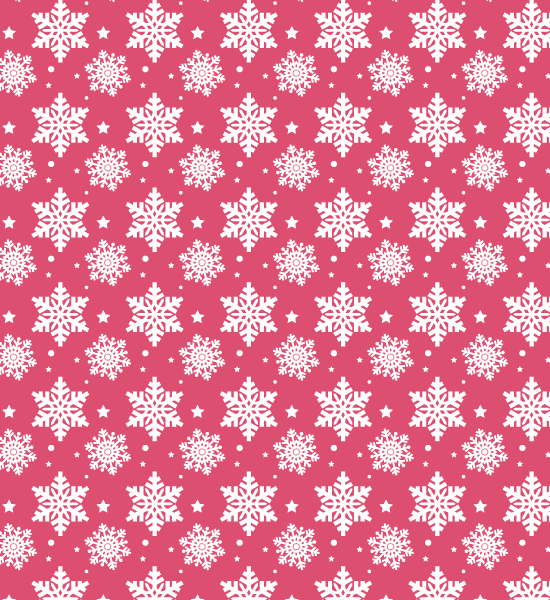 pinkpattern Snow Flake Seamless Photoshop Pattern