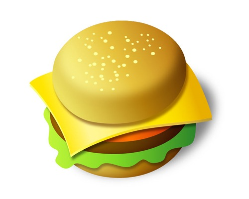 burger 50 Illustrator Tutorials To Create High Quality Icons