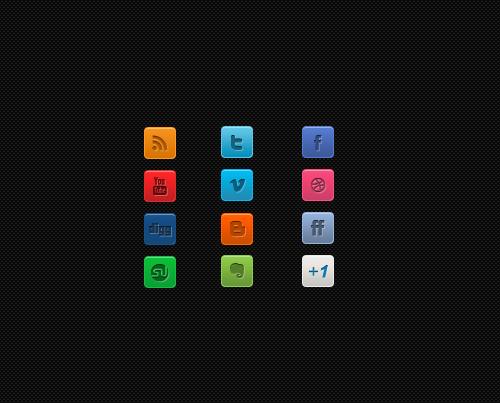 cleanminisocialmediaiconset A Clean Mini Social Media Icon Set