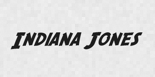 indiana 20 Free Fonts Used In Iconic Movies