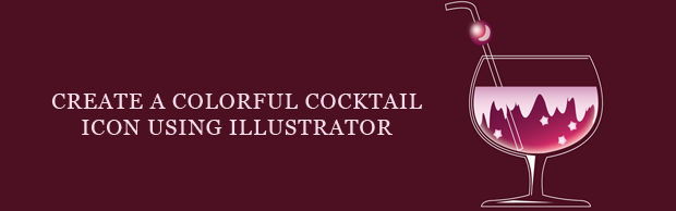 cocktailiconbanner Create A Colorful Cocktail Icon Using Illustrator