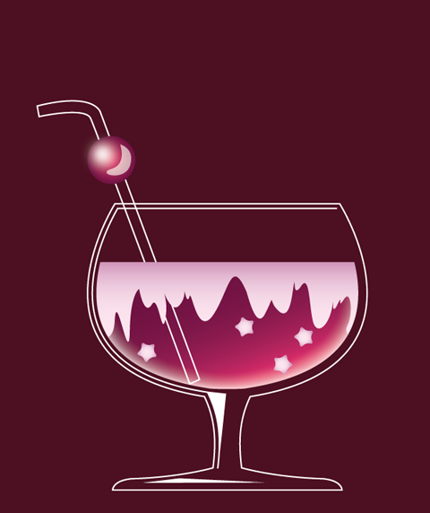 final1 Create A Colorful Cocktail Icon Using Illustrator