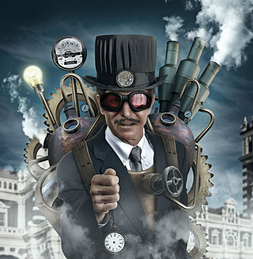 steampunk 30 Photoshop Tutorials For Creating Beautiful Illustration