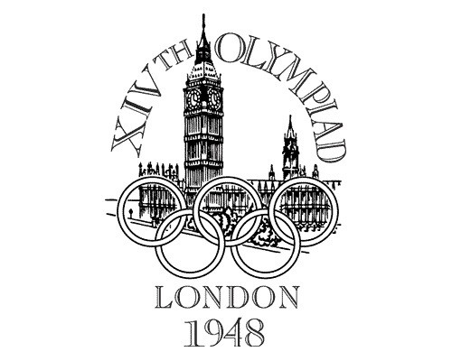 1948olmypiclondonlogo The Evolution Of the Summer Olympics Logo Design From 1924 To 2016