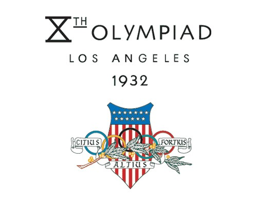 olympic1932logodesign The Evolution Of the Summer Olympics Logo Design From 1924 To 2016