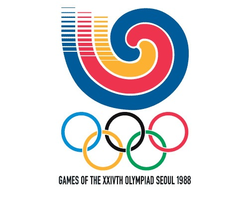 seoulolympicslogo1988 The Evolution Of the Summer Olympics Logo Design From 1924 To 2016