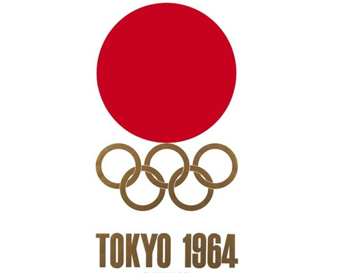 tokyo1964olmypiclogo The Evolution Of the Summer Olympics Logo Design From 1924 To 2016