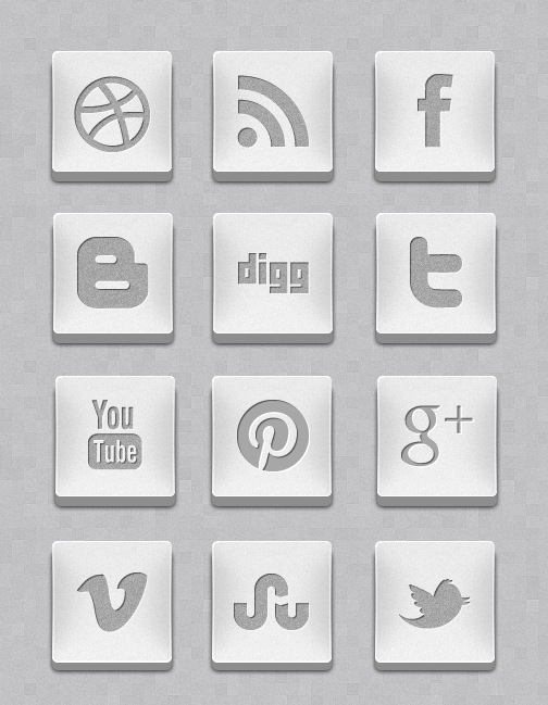 3dsilvericons A Free 3D Silver Social Media Icon Set