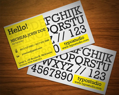 alpahabetbusinesscard 70 Creative And Innovating Business Card Designs You Must See