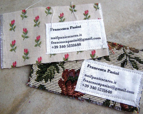 francesapasinibusinesscardhandstitched 70 Creative And Innovating Business Card Designs You Must See