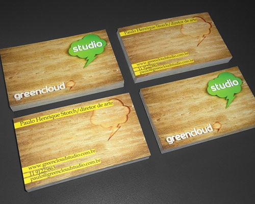 greenclound 70 Creative And Innovating Business Card Designs You Must See