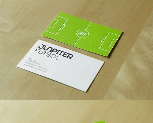 junipterfootball 70 Creative And Innovating Business Card Designs You Must See