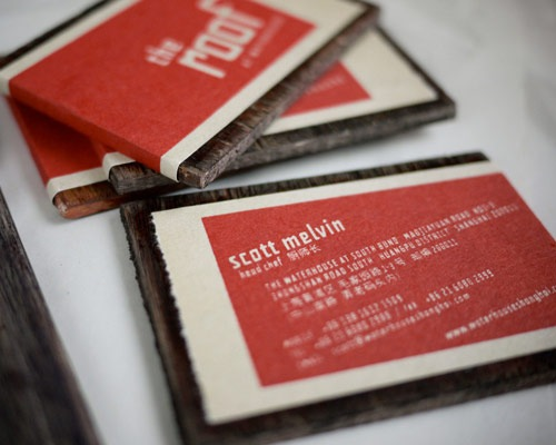 theroofbusinesscard 70 Creative And Innovating Business Card Designs You Must See