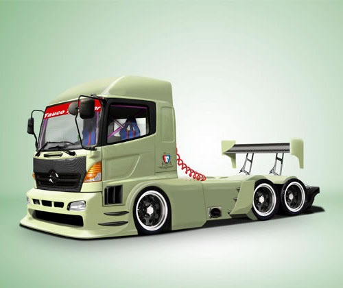 truckillustration 85 Best Photoshop Tutorials From 2012