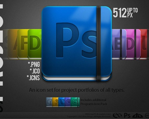 adobeicons 50 Free 3D High Quality PSD File Icons