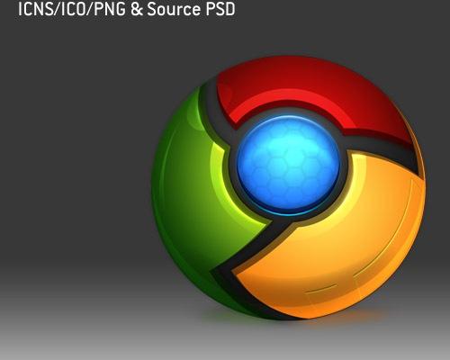chromepsdicons 50 Free 3D High Quality PSD File Icons