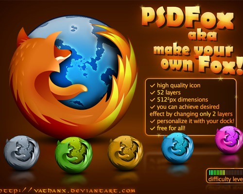 firefoxicons 50 Free 3D High Quality PSD File Icons