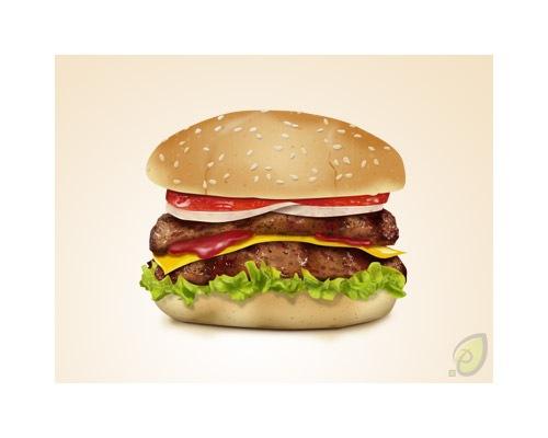 hamburgericonpsdfile1 50 Free 3D High Quality PSD File Icons