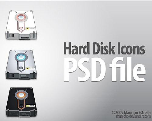 harddiskpsdicon 50 Free 3D High Quality PSD File Icons