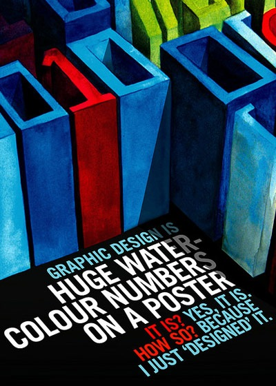 hugewatercolournumbersonaposter 70 Design And Motivational Quotes Visualised A Must Read
