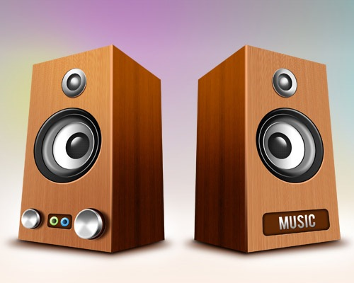 woodenspeakericons 50 Free 3D High Quality PSD File Icons