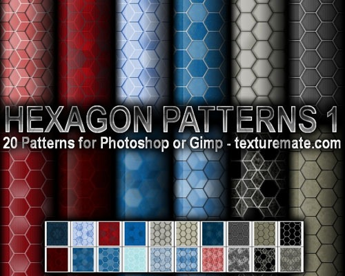 hexagonpatterns 70 Free Photoshop Patterns The ultimate Collection
