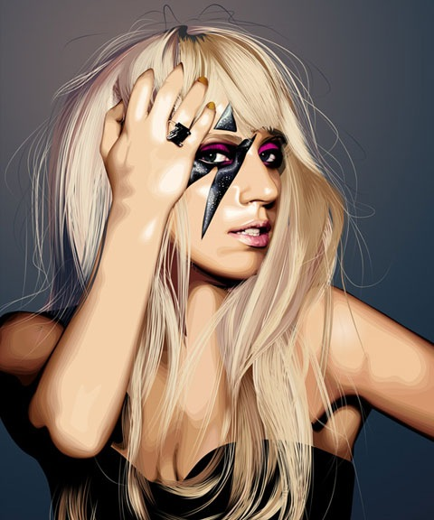ladygaga 50 Most Beautiful Vexel Portraits You Will Ever See