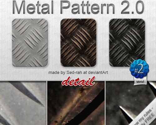 metalphotoshoppattern 70 Free Photoshop Patterns The ultimate Collection