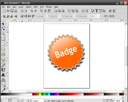badge 50 Tutorials For Creating Vector Graphics Using Free Software Inskape