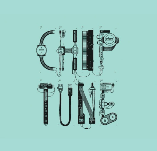 chiptune 70 Beautiful Typography Designs Truly Jaw Dropping