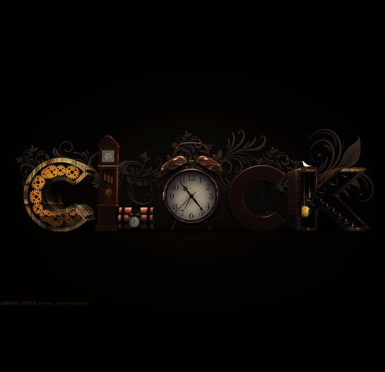 clock 70 Beautiful Typography Designs Truly Jaw Dropping