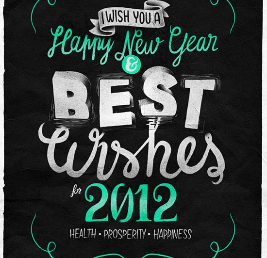 happynewyear 70 Beautiful Typography Designs Truly Jaw Dropping