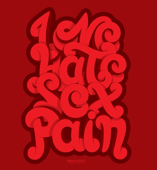 lovehate 70 Beautiful Typography Designs Truly Jaw Dropping
