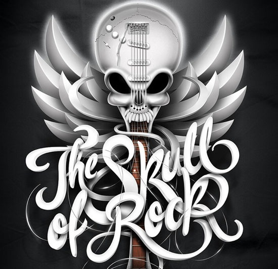 theskullofrock 70 Beautiful Typography Designs Truly Jaw Dropping