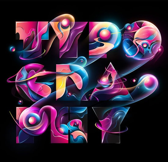 vibranttypography 70 Beautiful Typography Designs Truly Jaw Dropping